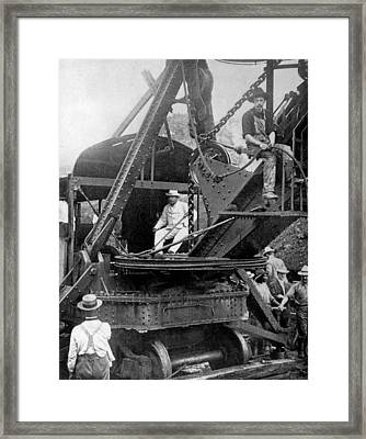 President Theodore Roosevelt On A Steam Framed Print by Everett