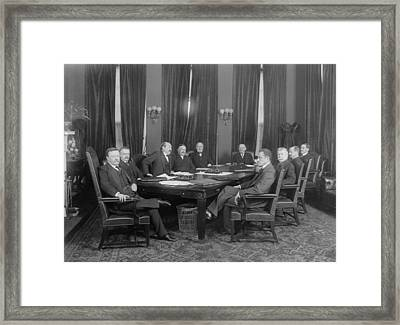 President Theodore Roosevelt, Seated Framed Print by Everett