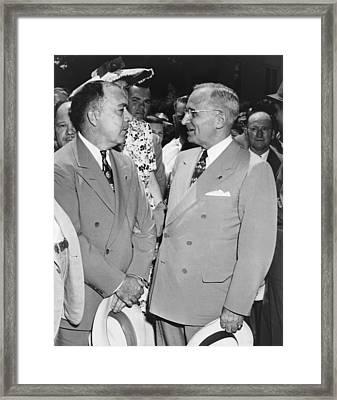 President Truman And James Pendergast Framed Print by Everett