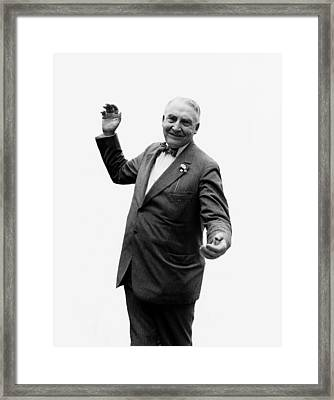 Framed Print featuring the photograph President Warren G Harding - C 1920 by International  Images