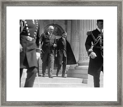 President Warren G. Harding Left Framed Print