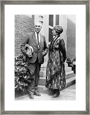 President Warren Harding With First Framed Print