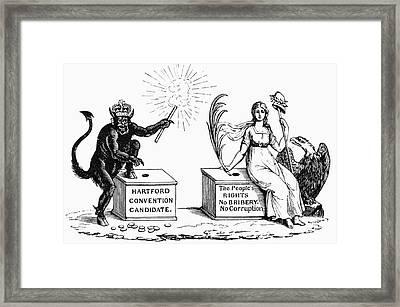 Presidential Campaign, 1816 Framed Print