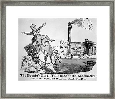 Presidential Campaign, 1840 Framed Print