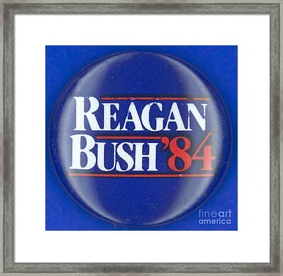 Presidential Campaign: 1984 Framed Print by Granger