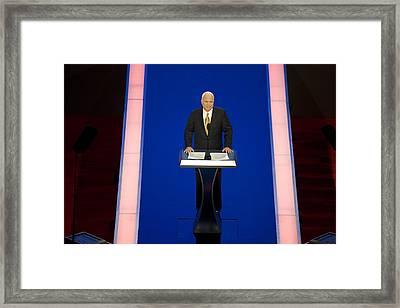 Presidential Candidate John Mccain Framed Print by Everett