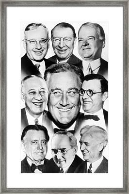 Presidential Contenders For The 1936 Framed Print