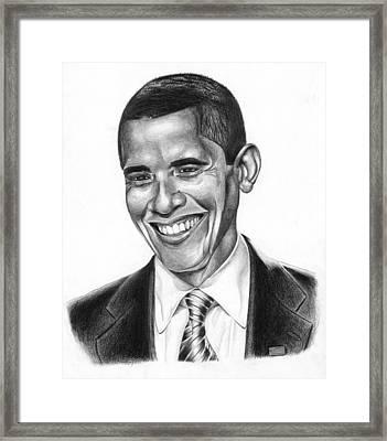 Presidential Smile Framed Print by Jeff Stroman