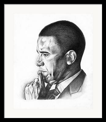 Presidential Portrates Drawings Framed Prints