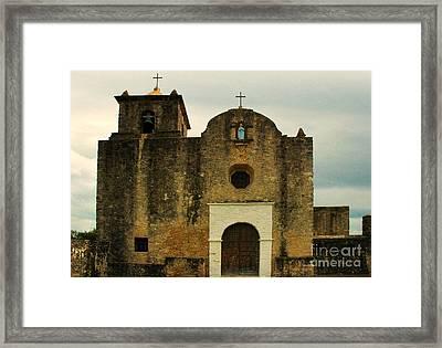 Framed Print featuring the photograph Presidio La Bahia by Vivian Christopher