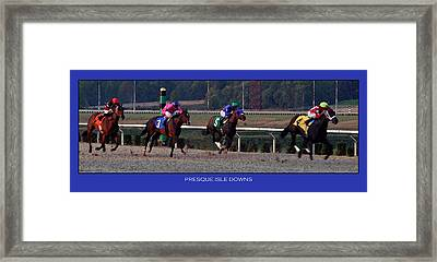 Presque Isle Downs Framed Print