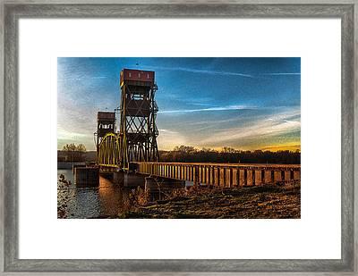 Framed Print featuring the photograph Preston'strain Bridge by Kimberleigh Ladd