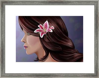 Pretty As A Lilly Framed Print