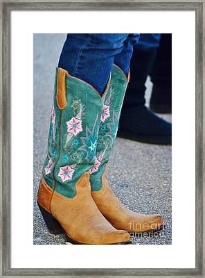 Pretty Boots Framed Print