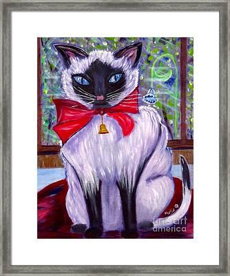Pretty Fat Cat Framed Print by Phyllis Kaltenbach