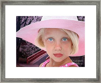 Pretty In Pink Framed Print by Jerry L Barrett