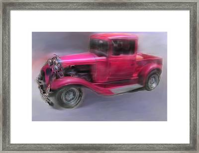 Framed Print featuring the digital art Pretty In Pink by Mary M Collins