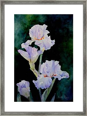 Pretty In Purple Framed Print by Bobbi Price