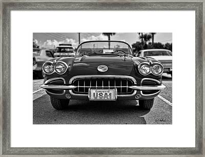 Pretty In Red - Bw Framed Print