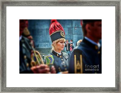 Framed Print featuring the photograph Pretty Little Drummer Girl by Jack Torcello