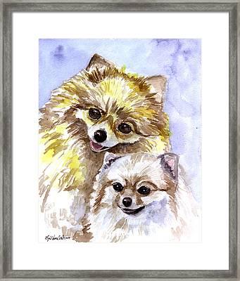 Pretty Pom Pair - Pomeranian Framed Print
