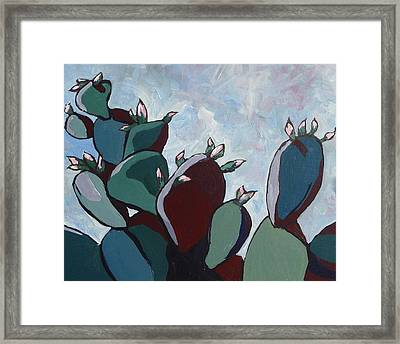 Prickly Pear Stand Framed Print by Sandy Tracey