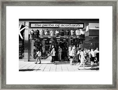 Pride Of Scotland Scottish Gifts Shop Princes Street Edinburgh Scotland Uk United Kingdom Framed Print by Joe Fox