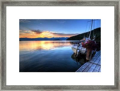 Priest Lake Awakens Framed Print