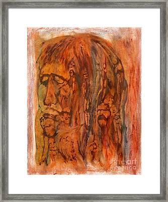 Primal Ancestry Framed Print by Linda May Jones