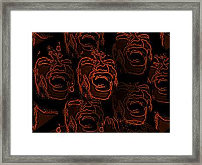 Primal Screams  Framed Print by David Dehner