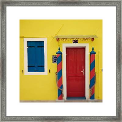 Primary Colors Framed Print by Irene Suchocki