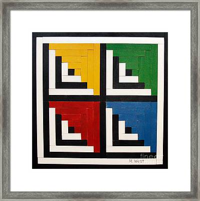 Primary Colors Framed Print by Marilyn West