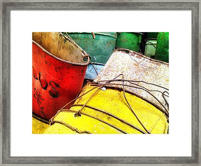 Primary Colors Framed Print by Olivier Calas