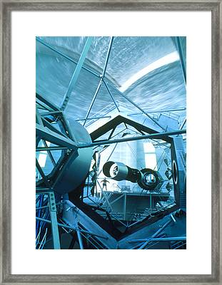 Primary Mirror Of The Keck II Telescope, Hawaii Framed Print by David Nunuk
