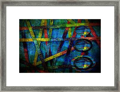 Primary Three Rectangle Framed Print by Angelina Vick