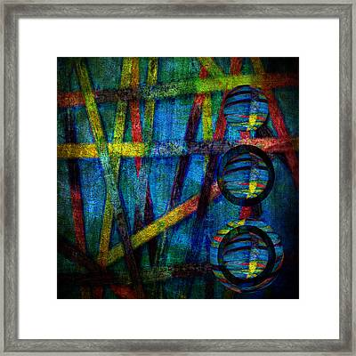 Primary Three Square Framed Print by Angelina Vick