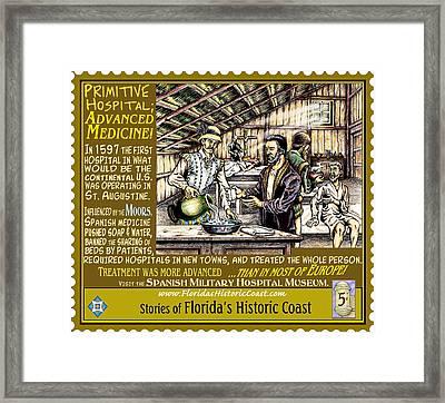 Primitive Hospital Advanced Medicine Framed Print by Warren Clark