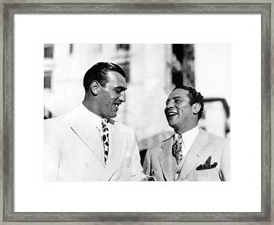 Primo Carnera & Max Baer Sr.being Framed Print