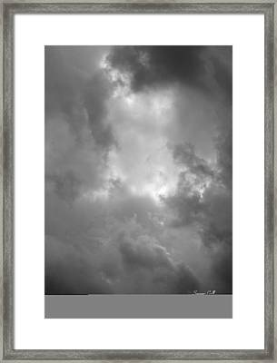 Primordial In Black And White Framed Print by Suzanne Gaff