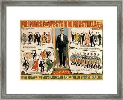 Primrose And Wests Big Minstrels Framed Print