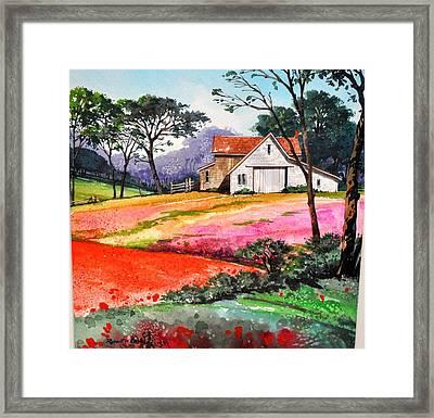 Primrose Farm Framed Print