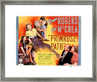 Primrose Path, Ginger Rogers, Joel Framed Print