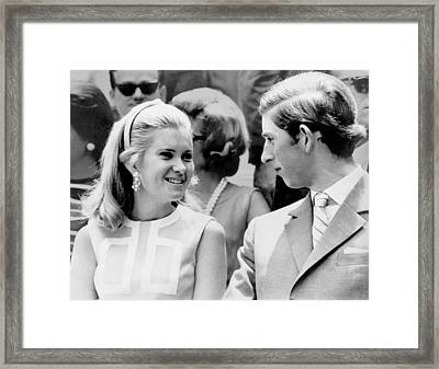 Prince Charles, With The Daughter Framed Print