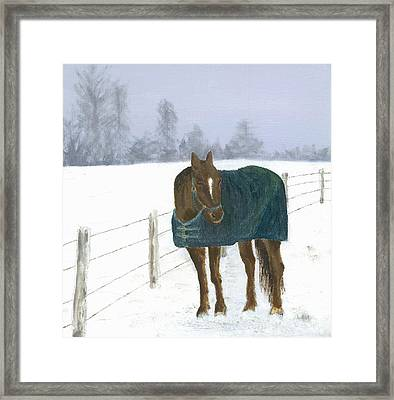 Framed Print featuring the painting Prince by Laurel Best