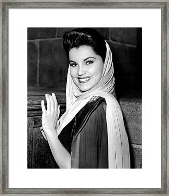 Prince Valiant, Debra Paget, On-set Framed Print