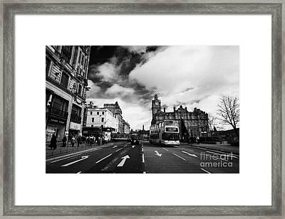 Princes Street Edinburgh Scotland Framed Print by Joe Fox