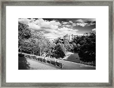 Princes Street Gardens In Edinburgh City Centre Scotland Uk United Kingdom Framed Print by Joe Fox