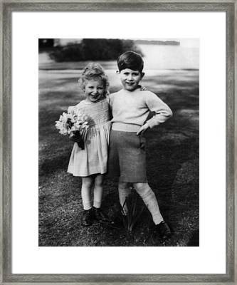 Princess Anne, At 3 Years Old Framed Print