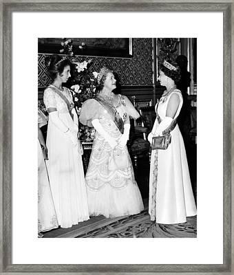 Princess Anne, Queen Elizabeth Framed Print