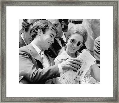 Princess Anne Right, Learns Framed Print by Everett